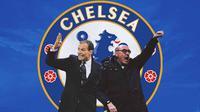 Chelsea - Massimiliano Allegri dan Maurizio Sarri (Bola.com/Adreanus Titus)
