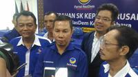 Ketua Dewan Pimpinan Daerah Partai NasDem Kota Surabaya, Robert Simangunsong. (Foto: Liputan6.com/Dian Kurniawan)