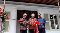 Restorasi gedung ini diresmikan Dubes AS bersama Gubernur DKI Jakarta Anies Baswedan dan Wakil Menteri Luar Negeri Mahendra Siregar. (Foto: Liputan6.com/Tommy Kurnia)