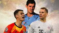 Ilustrasi - Kepa Arrizabalaga, Thibaut Courtois, Manuel Neuer (Bola.com/Adreanus Titus)