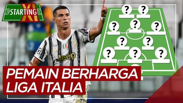 Berita motion grafis Starting XI pemain paling berharga Liga Italia, dominasi pemain Inter Milan dan Juventus.
