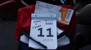 Makin hari makin menarik, mungkin itu menjadi cerita saya soal hari ketiga di Rusia meliput Piala Dunia 2018. Saya jurnalis Bola.com, Okie Prabhowo, datang ke Stadion Luzhniki untuk meliput Inggris melawan Kroasia. (Bola.com/Okie Prabhowo)