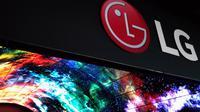 Logo LG di CES 2017. Liputan6.com/Corry Anestia