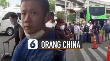 Beredar video puluhan warga China tiba di Bandara Soekarno-Hatta.