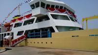 Presiden Jokowi resmikan kapal pengangkut ternak