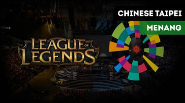 Tim League of Legends (LoL) Chinese Taipei berhasil menaklukkan Pakistan dengan skor 14-2.