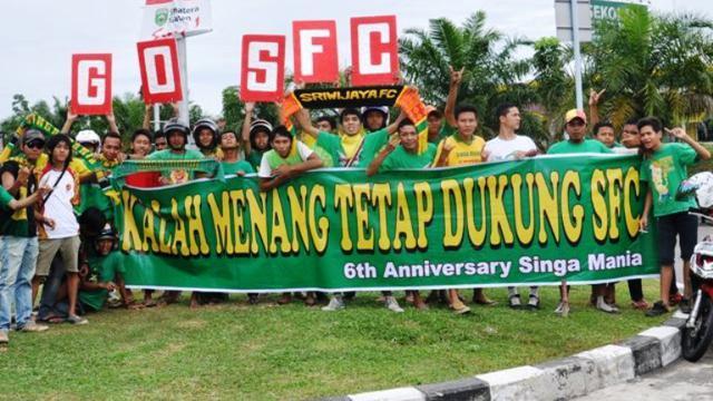 Singa Mania Kelompok Suporter Sriwijaya Fc Memastikan Hadir Di Solo Kala Tim Kesayangan Meladeni Arema Cronus Di Semifinal Kedua Piala Presiden