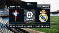 La Liga 2018-2019 Celta Vigo vs Real Madrid  (Bola.com/Adreanus Titus)