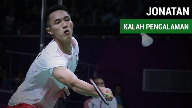 Tunggal putra Indonesia, Jonatan Christie menganggap dirinya kalah pengalaman dari pebulutangkis China, Chen Long.
