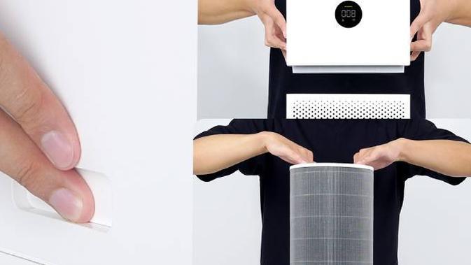 Melepas filter  HEPA pada Mi Air Purifier 3C. Dok: mi.com