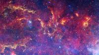 Gambar yang menunjukkan inframerah, cahanya seperti inframerah dan sinar-X dari pusat Bimasakti. (Kredit: NASA / ESA / CXC / SSC / STScI)
