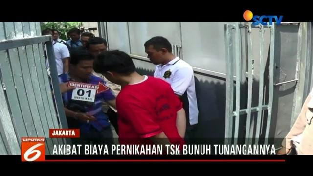 Satreskrim Polres Metro Jakarta Barat gelar olah tempat kejadian perkara kasus pria bunuh dan bakar tunangan sendiri.