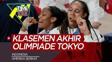 Berita video time out kali ini membahas tentang klasemen akhir Olimpiade Tokyo 2020 dan pencapain Indonesia.