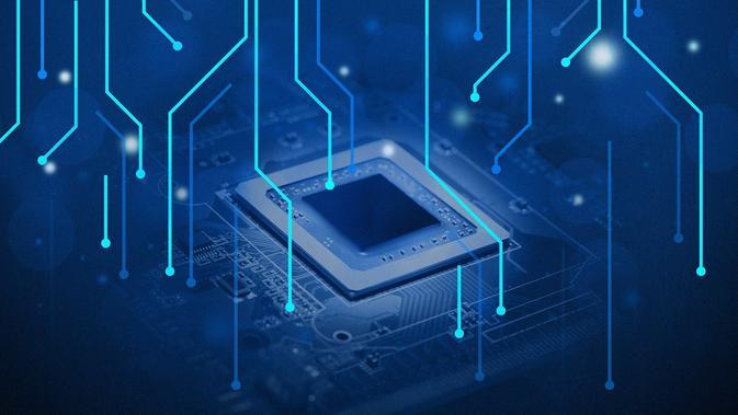 Ilustrasi chipset, prosesor.