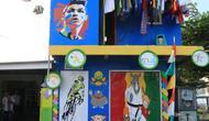 Tembok rumah warga dihias bernuansa olahraga demi Kampung Asian Games 2018 di Cilacap. (Foto: Liputan6.com/Muhamad Ridlo)