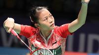 4. Fitriani - Tunggal putri nomor satu Indonesia saat ini terkenal dengan smash nya yang tidak biasa. Di banyak turnamen, pemain mungil ini sering melakukan jump smash untuk mengakhiri permainan. (BWF Badminton)