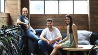 Pendiri Canva, Cameron Adams, Cliff Obrecht dan CEO Melanie Perkin.Dok Canvas.