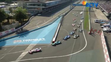 Daniel Abt sempat kesulitan untuk menembus posisi terdepan. Sedangkan, posisi terdepan ditempati oleh pebalap Mahindra Racing, asal Swedia, yakni Felix Rosenqvist.