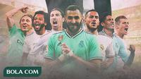 Real Madrid - Zinedine Zidane dan Bintang Real Madrid (Bola.com/Adreanus Titus)