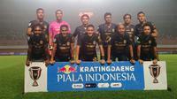 Skuat PSS Sleman saat melawan Borneo FC di Piala Indonesia di Stadion Maguwoharjo, Sleman (20/2/2019). (Bola.com/Vincentius Atmaja)