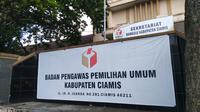 Kantor Bawaslu kabupaten Ciamis, Jalan Djuanda, Kabupaten Ciamis (Liputan6.com/Jayadi Supriadin)