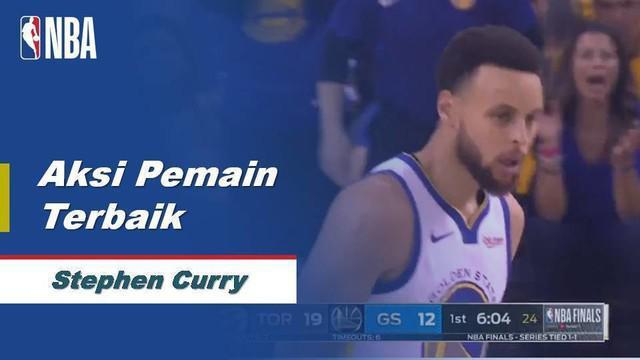 Berita video pemain terbaik game 3 Final NBA 2019 yaitu Stephen Curry yang mencetak 47 poin.