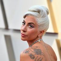 Penyanyi dan aktris Lady Gaga menghadiri perhelatan Oscar 2019 di Dolby Theatre, Los Angeles, Minggu (24/2). Lady Gaga makin terlihat menawan dengan rambut blonde-nya lantaran mengenakan perhiasan dengan kilau sinar. (Jordan Strauss/Invision/AP)
