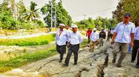 Menteri Pertanian Amran Sulaiman mengunjungi Palu. Dok: Kementan