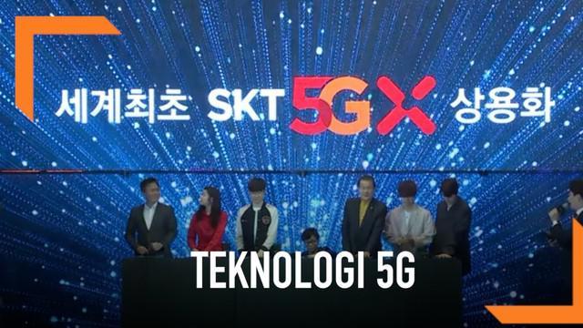 Korea Selatan menjadi negara pertama yang meluncurkan teknologi jaringan nikabel 5G secara komersial lewat tiga operator telekomunikasinya.