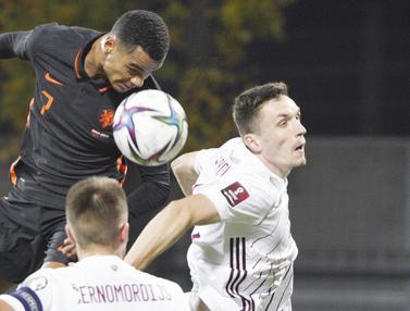 Foto: Belanda Curi Kemenangan di Markas Latvia Pada Kualifikasi Piala Dunia 2022