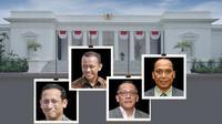 Banner Infografis Wajah Baru dan Lama di Reshuffle Kabinet. (Liputan6.com/Trieyasni)