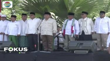 Prabowo-Sandi jadi inspektur upacara perayaan Hari Santri Nasional di Pondok Pesantren Tebuireng, Jombang.