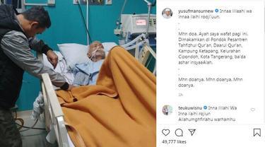 Unggahan ustaz Yusuf Mansur. (Foto: Dok. Instagram @yusufmansurnew)