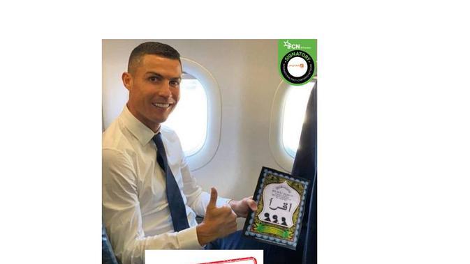 Cek Fakta Cristiano Ronaldo bawa buku Iqro