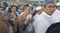Menteri Agama sekaligus Amirul Hajj Lukman Hakim Saifuddin beserta rombongan melaksanakan umroh wajib di Tanah Suci. Dedy/MCH