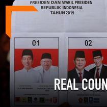 KPU terus melakukan perhitungan suara atau real count. Berdasarkan situs resmi KPU hingga pukul 17.00 WIB, pasangan Jokowi-Ma'ruf masih unggul dari Prabowo-Sandiaga.