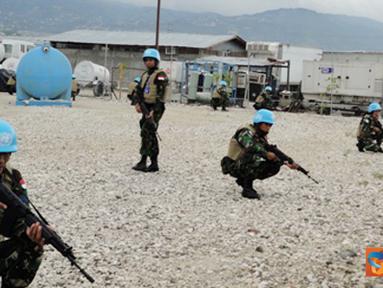 """Citizen6, Minustah: Hal ini harus diikuti dan dilaksanakan karena training ini berkaitan dengan """"do and don't"""" dari segala aturan-aturan yang berlaku di Minustah, Haiti. (Pengirim: Badarudin Bakri)"""