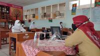 Uji coba pembelajaran tatap muka (PTM) terbatas di Kota Bogor. (Liputan6.com/ Achmad Sudarno)