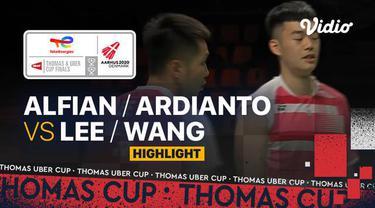 Berita video highlights pertandingan kedua Indonesia vs Chinese Taipei di Grup A Piala Thomas 2020, di mana ganda putra Fajar Alfian / Muhammad Rian Ardianto menelan kekalahan, Rabu (13/10/2021) siang hari WIB.