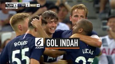 Gol Harry Kane menjadi penentu kemenangan Tottenham Hotspur atas Juventus. Gol spektakulernya tercipta dari tengah lapangan.