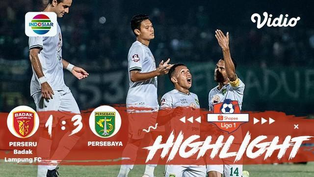 Pertandingan #ShopeeLiga1, antara #BadakLampung VS #PersebayaSurabaya yang berlangsung di Stadion Sumpah Pemuda, Bandar Lampung pa...