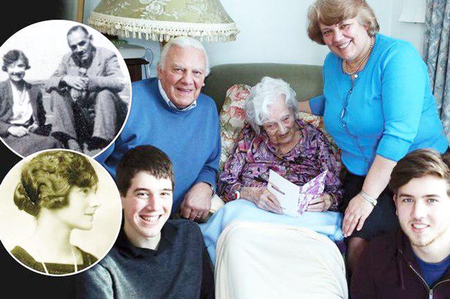 Gladys bersama anak, cucu dan cicitnya | foto: copyright dailymail.co.uk