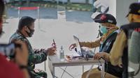 Simulasi Vaksinasi di Kota Bogor. (Foto: Achmad Sudarno/Liputan6.com).