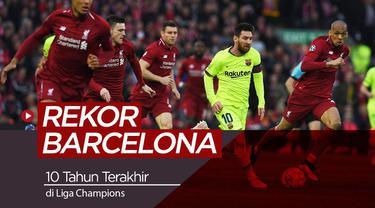 Berita video catatan 10 tahun terakhir Barcelona pada ajang Liga Champions 2019.