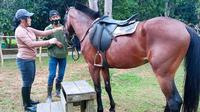 Ulin Arya, salah satu tempa rekreasi di Kota Samarinda menawarkan wisata berkuda yang murah meriah.