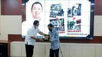 Wali Kota Hendrar Prihadi atau Hendi menerima kunjungan Diklat PIM Nasional Kementerian PUPR di Situation Room Balaikota Semarang, Rabu (21/4).