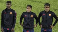 Gelandang Selangor FA, Evan Dimas, bersiap melawan Kuala Lumpur FA pada laga Liga Super Malaysia di Stadion Kuala Lumpur, Cheras, Minggu (4/2/2018). Kuala Lumpur FA kalah 0-2 dari Selangor FA. (Bola.com/Vitalis Yogi Trisna)
