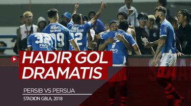 Berita video momen gol-gol saat pertandingan Persib Bandung melawan Persija Jakarta di Stadion GBLA (Gelora Bandung Lautan Api), Bandung, pada 23 September 2018.