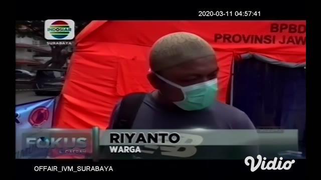 Rumah Sakit Universitas Airlangga (Unair) Surabaya bersama Badan Penanggulangan Bencana Daerah (BPBD) Jawa Timur mendirikan crisis center untuk warga yang ingin memeriksakan kesehatan karena resah terhadap Covid-19.