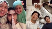 Momen keluarga seleb Tarawih bersama di rumah. (sumber: Instagram/vennamelindareal) (Sumber: Instagram/vidialdiano)